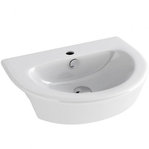 Arco 550Mm Semi Countertop Basin With One Tap Hole