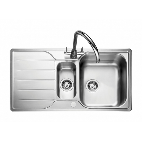 Rangemaster Michigan 1.5 Bowl And Waste Overmounted Sinks