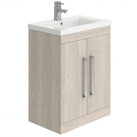 Nikita Floor 600Mm Standing Cloakroom Vanity Unit Freestanding