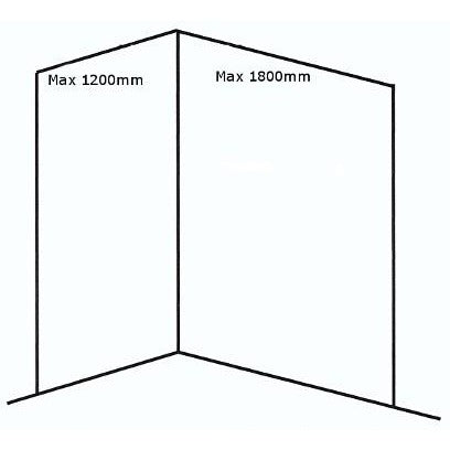 Medium Corner BB Nuance Shower Enclosure Pack - KBME
