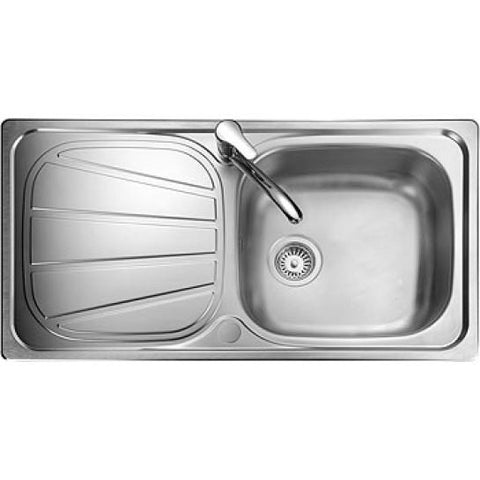 Rangemaster Baltimore Inset 1.0 Bowl & Drainer Sink - Stainless Steel Overmounted Sinks