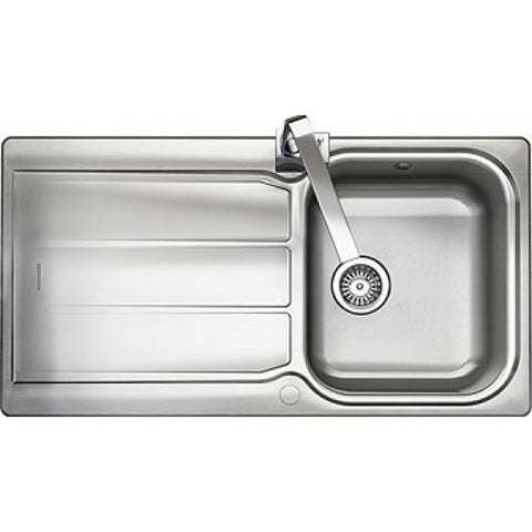 Rangemaster Glendale Inset 1.0 Bowl & Drainer Sink - Stainless Steel Overmounted Sinks