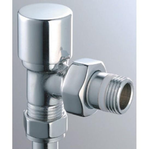 Modern Round Angled Radiator Valves (Pair) & Heating Elements