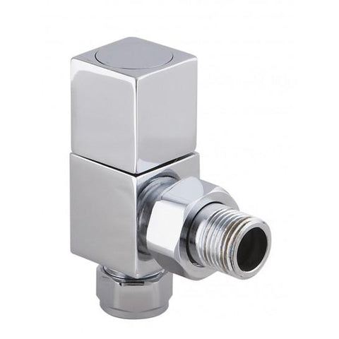 Modern Square Angled Radiator Valves (Pair) & Heating Elements