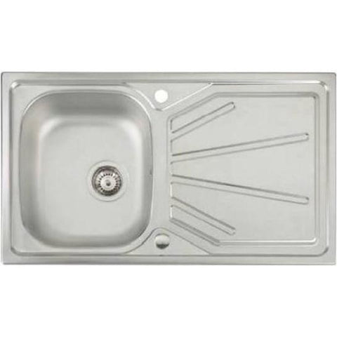 Abode Trydent 1.0 Bowl And Drainer (Reversible) Overmounted Sinks