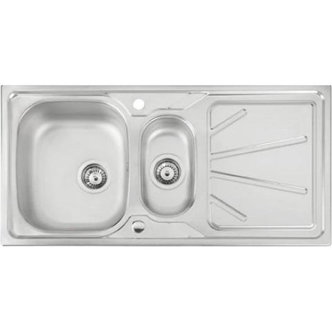 Abode Trydent 1.5 Bowl And Drainer (Reversible) Overmounted Sinks