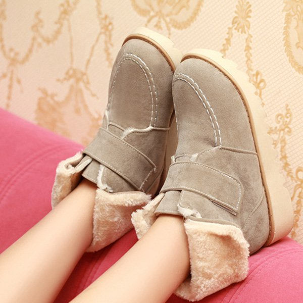 0dcde45bf1 Women Plus Size Magic Tape Snow Boots Casual Shoes. Women Plus Size Magic  Tape Snow Boots Casual Shoes