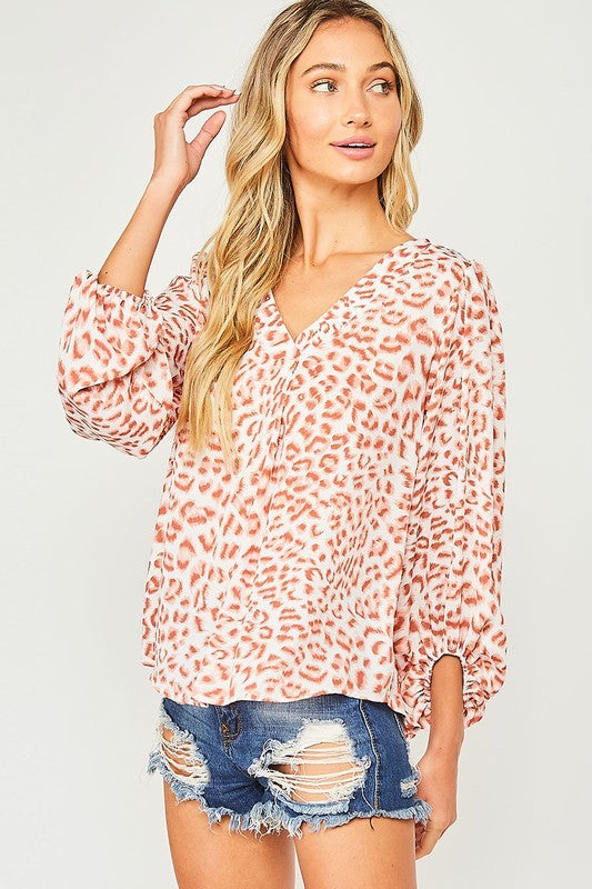 OUT OF THE WILD CHEETAH TOP