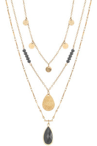 Black/Gold Layered Necklace