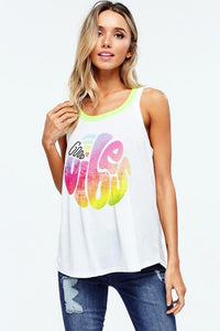 NEON/LIME GOOD VIBES TANK TOP
