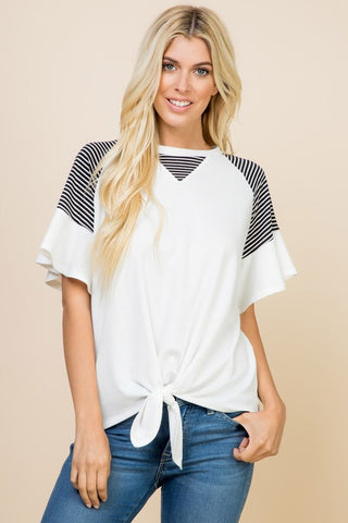 White French Terry Top