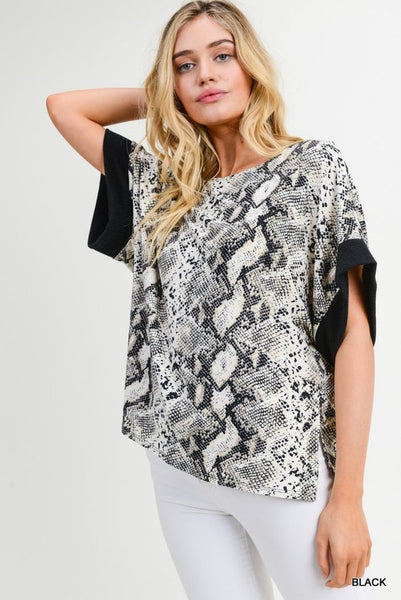 NO PROMISES SNAKESKIN TOP