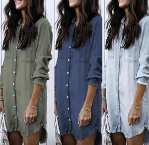 Addison Freyed Hem Tunic Dress