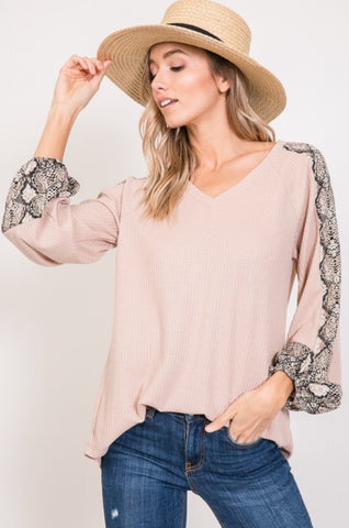 Over The Moon Snakeskin Top