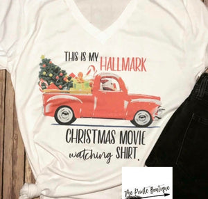 Hallmark Movie Watching Tshirt
