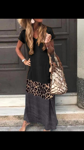 Black/Leopard Dress
