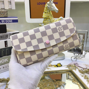 Sarah White Checker Wallet
