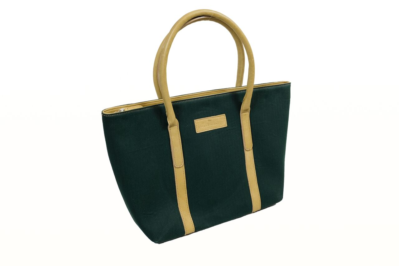 Leather trimmed Brecon large tote