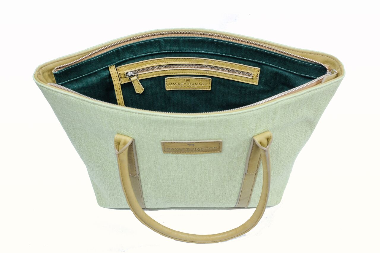 LIMITED EDITION leather trimmed small Brecon Tote (pre Order)