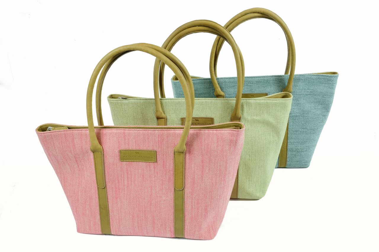 LIMITED EDITION leather trimmed large Brecon Tote (pre Order)