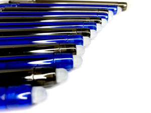 Erasable Gel Ink Pens: Pack of 6 Black & 6 Blue Rollerball Pens with Fine 0.5mm Point