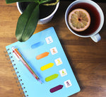 Lined Notebook & Multicolor Pen: A5 Planner Journal with 5 Divider Tabs and 200 Pages & 6-in-1 Retractable Ballpoint Pen & E-book
