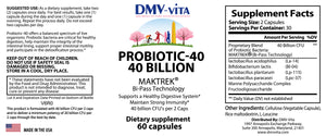 Probiotic 40 Billion CFU