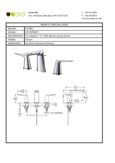 Leol - Widespread Bathroom Faucet