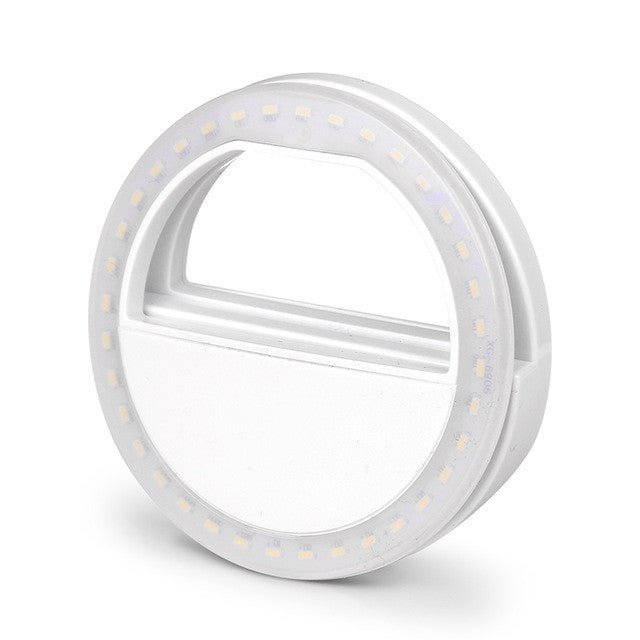 FORNORM LED Night Selfie Light Enhancing Photography Luminous Ring Light 36 bulbs USB Rechargeable For Smartphone Flash Lamp