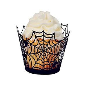 12PCS Spider Web Cupcake Wrapper