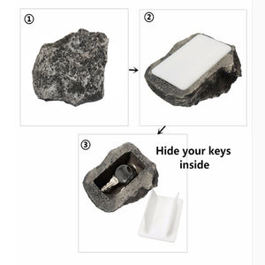 NEW Key Box Rock Hidden Hide In Stone Security Safe Storage Hiding Outdoor Garden Outdoor Muddy Mud Spare Key House Safe