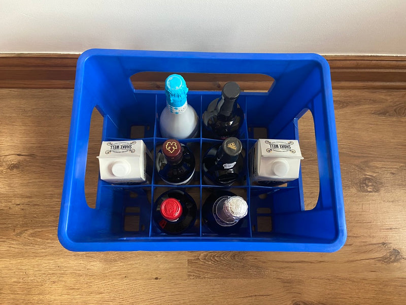 Bottle crates for Christmas