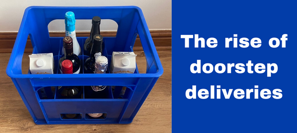 doorstep deliveries using bottle crates for pubs, restaurants, bars, cafes