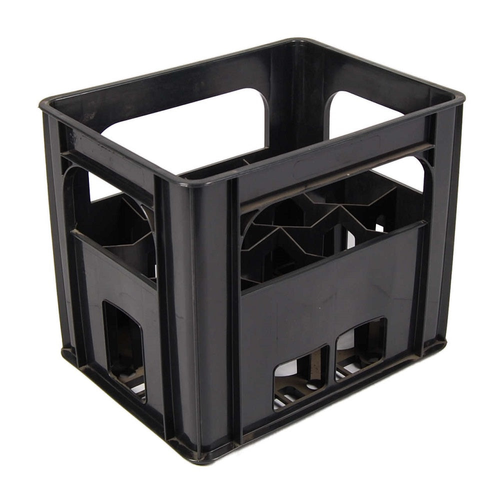 Black Wine Bottle Crate fits 12 bottles