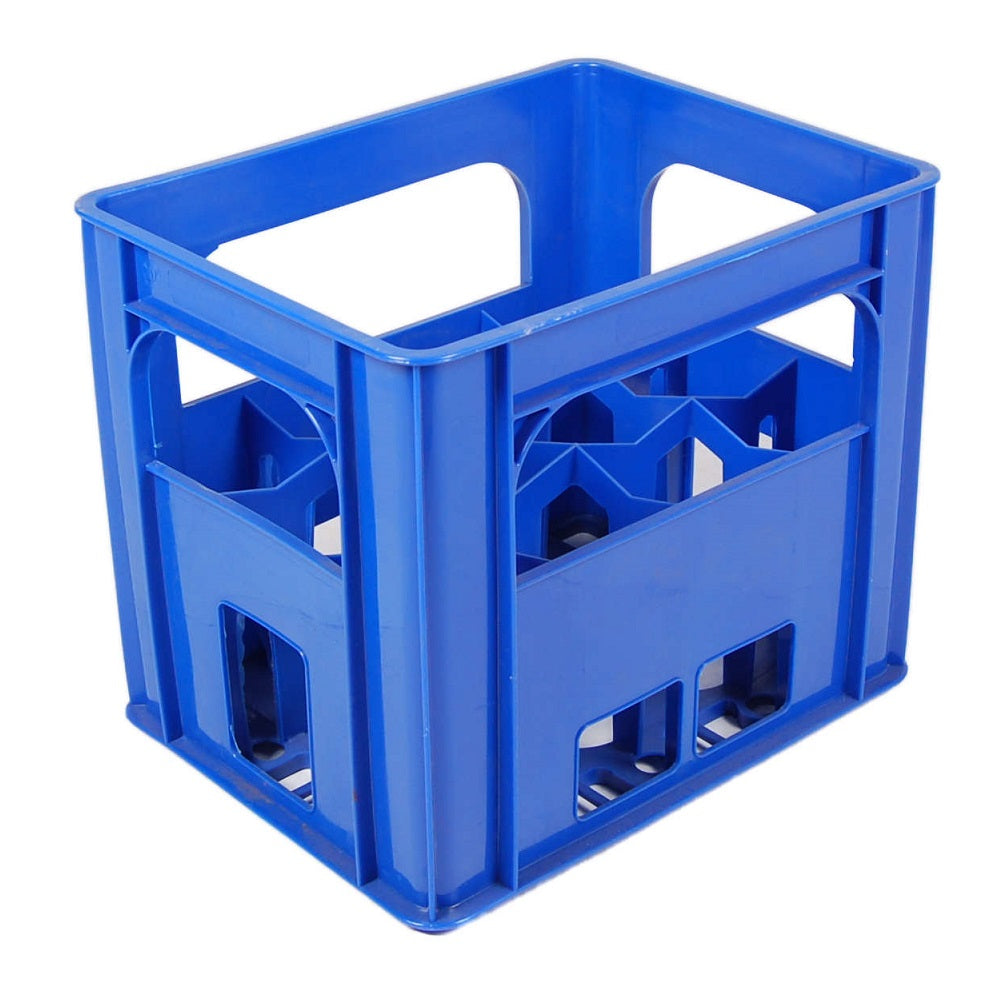 Blue Wine Milk Bottle Crate fits hold 12 bottles