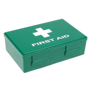 Fuzzy Brands First Aid Box Large, hinged plastic box with clip fasteners, 265x180x80mm