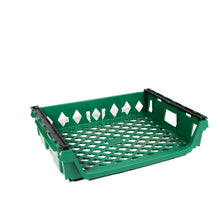 Green 12 loaf Bread Tray front 3/4 view