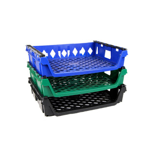 Stack of 15 Loaf Bread Trays, Blue, Green & Black, 1 of each #2