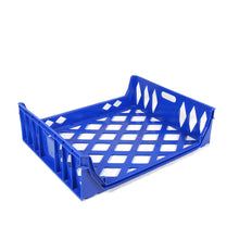Blue 10 loaf bread tray front 3/4 view