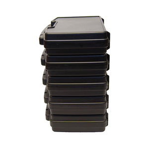 Hinged Plastic Carry Case with Foam inserts and Padlock Capability
