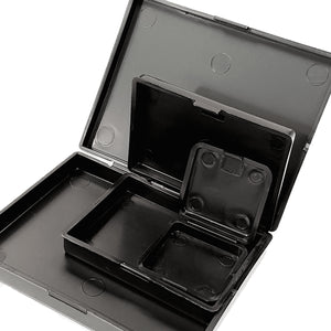 Hinged Plastic Boxes with Clip Fasteners - Bundle of Three Sizes