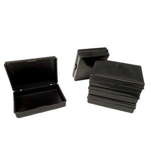 Fuzzy Brands Hinged plastic box with clip fasteners, 78x52x18mm