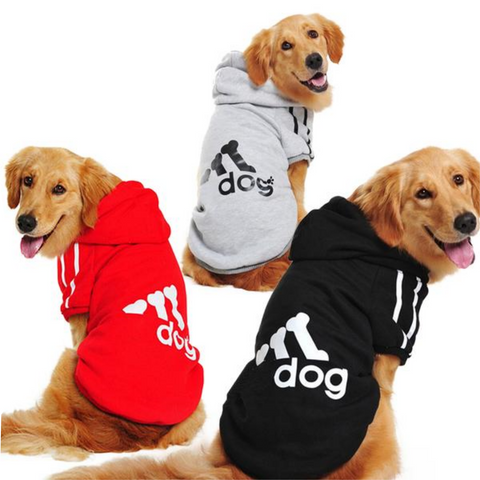 Large Size Dog Clothes for Big Dogs.  Winter Pet Hoodie Sportswear 2XL-9XL