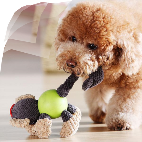 Pet Dog Toy, High-Quality Fabric, Cartoon Plush Squeak Toy, Suitable For All Size Dogs.