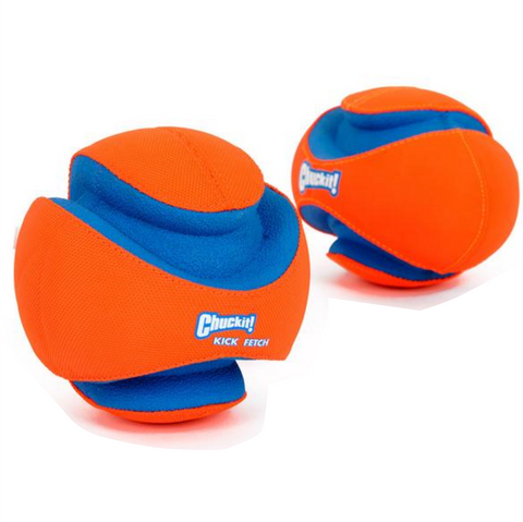 Chuckit Fumble Fetch Toy for Dog Outdoor. Puppy, Football, Soft Flexible Rubber Resistant. Very Interactive.