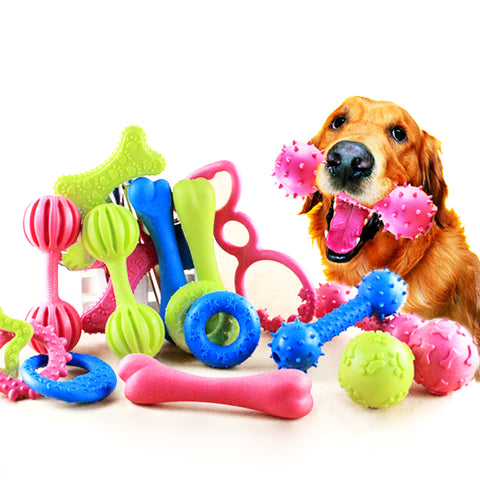 18 Style Pet Dog Toy Chew Squeaky Rubber Toys for Puppy to Large Dogs. Non-toxic Rubber Toy.