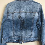 Jean Jacket printed with Strength