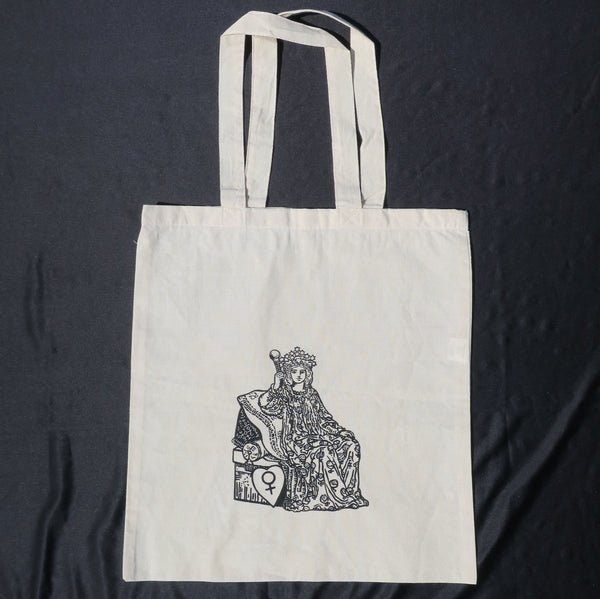 Natural Tote Bag printed with The Empress