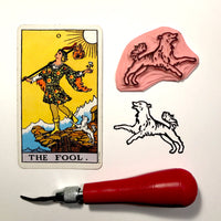 The Fool's Dog hand carved stamp