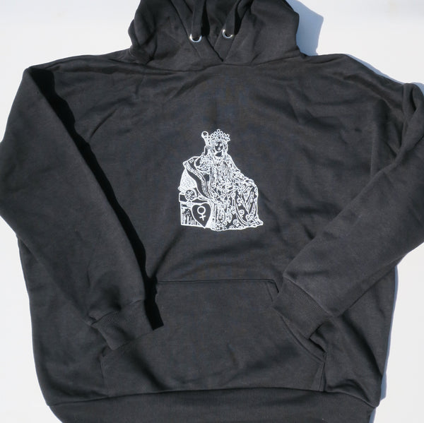 The Empress - Small Black Pull-over Unisex Hoodie